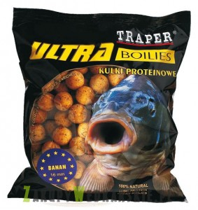 Kulki Traper Ultra MIX smaków (Fish Mix, Halibut, Krab, Ochotka) - śred.16mm - 500g
